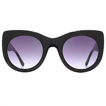 Guess Oversize Cateye Sunglasses In Shiny Black