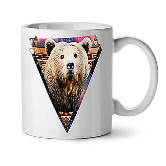Bear Face Novelty Animal NEW White Tea Coffee Ceramic Mug 11 oz | Wellcoda