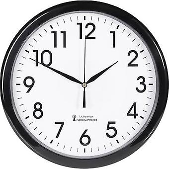 EUROTIME 53692-05 Radio Wall clock 30.5 cm x 4.5 cm Black