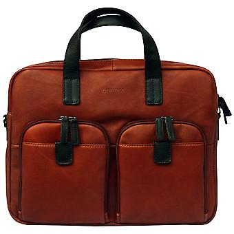 Cortez Genuine Leather Briefcase Business Bag 15.6 Inch Laptop Case Shoulder Work