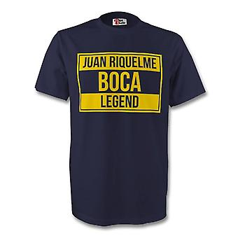 Juan Roman Riquelme Boca Juniors leggenda Tee (blu marino) - bambini