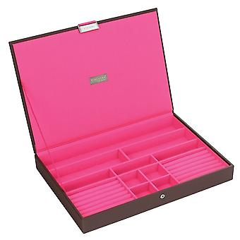 Chocolate & Brights Supersize Lidded Jewellery Tray