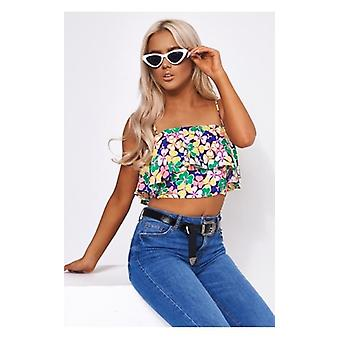 The Fashion Bible Daisy Frill Crop Top