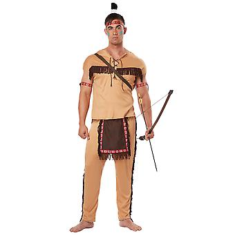 Native American Brave Indian Noble Warrior Western Wild West Mens Costume