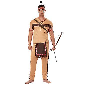 Native American modig indiska ädel krigare västra vilda västern Mens kostym