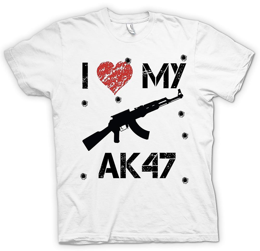Womens T-shirt - I Love My AK47 - Funny