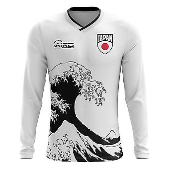 2018-2019 Japan Langarm Away Konzept Fußballtrikot