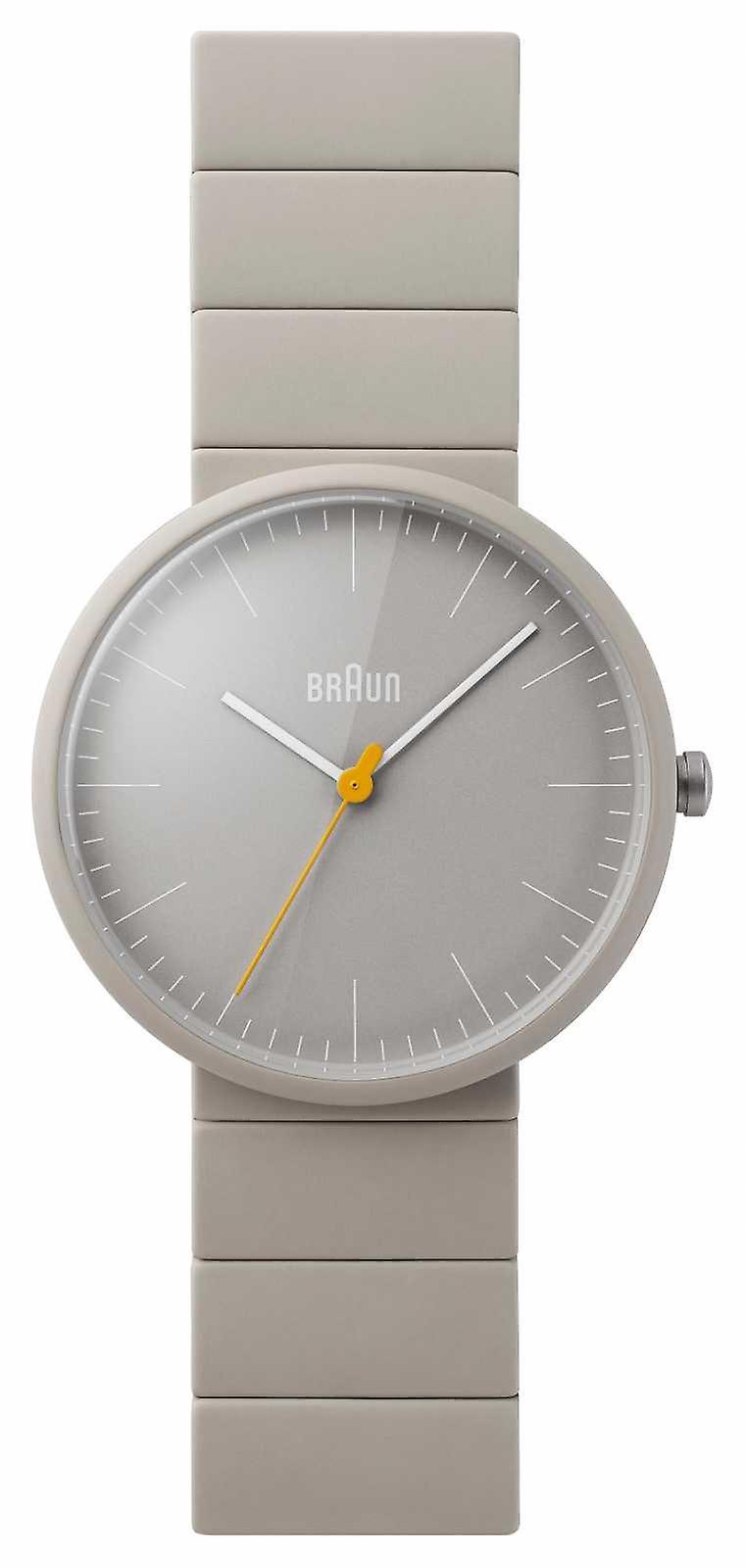 Braun Mens cinza pulseira cerâmica cinza Dial BN0171GYGYG Watch