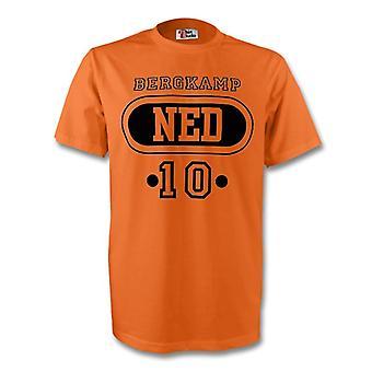 Dennis Bergkamp Holland Ned T-shirt (Orange)