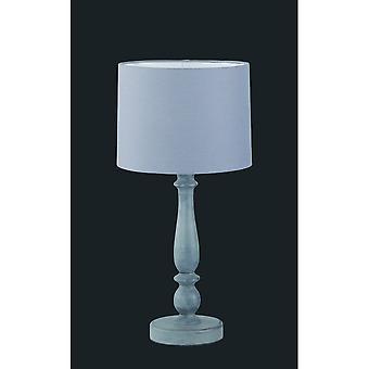Trio di illuminazione cappuccio autentico grigio naturale legno lampada da tavolo
