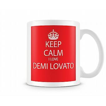 Tenere calmo io amore Demi Lovato stampato Mug