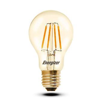 1 x Energizer GLS Globe antieke gouden afwerking LED Filament energiebesparende lamp E27 ES Edison schroef Fitting [energieklasse A +]