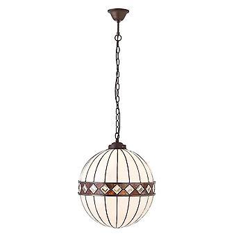 1900 des intérieurs Fargo unique Globe moyenne lumière plafond pendentif avec Ar