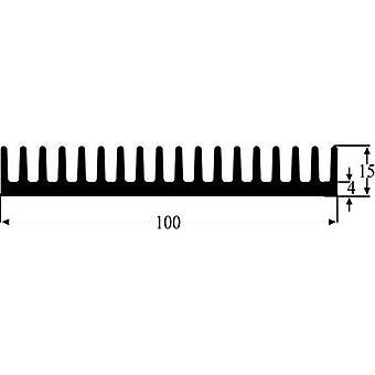 Fin heat sink 2 C/W (L x W x H) 100 x 100 x 15 mm Fischer Elektronik SK 81 100 SA