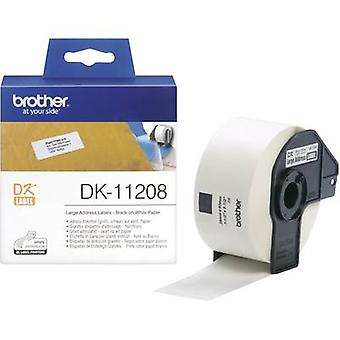 Brother DK-11208 Label roll 90 x 38 mm Paper White 400 pc(s) Permanent DK11208 Address labels