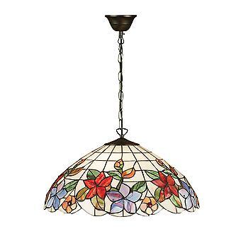 Interiors 1900 Country Large Single Tiffany Pendant Dome Light
