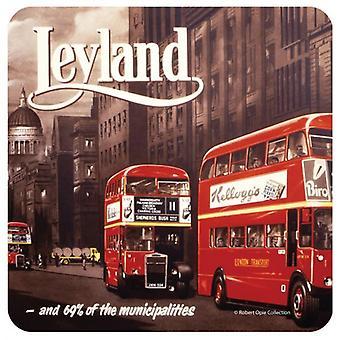 Leyland Bus Kork unterstützt Getränke Matte / Coaster