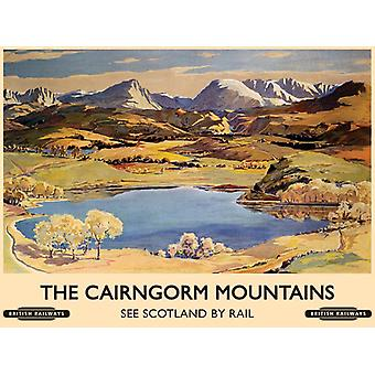 The Cairngorm Mountains (Old Rail Ad.) Small Steel Sign 200Mm X 150Mm