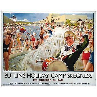 Butlins Skegness (Old Rail Ad.) Metal Sign 400Mm X 300Mm