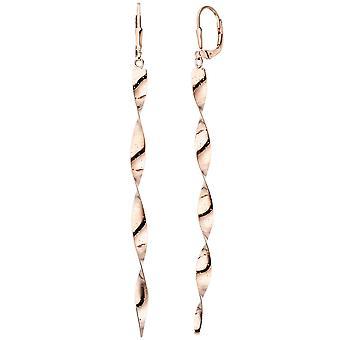 Ohrhänger Spirale 925 Sterling Silber rotgold vergoldet Ohrringe gedreht