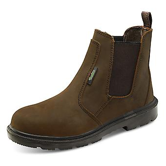 Click Pu Rubber Safety Dealer Boot Brown S3 - Ctf42