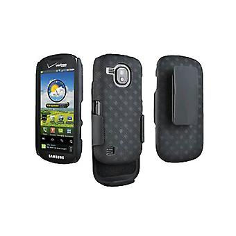 OEM Verizon Samsung Continuum i400 Galaxy S Black Belt Clip Shell Holster Combo