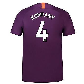 2018-2019 Man City Third Nike Football Shirt (Kompany 4)