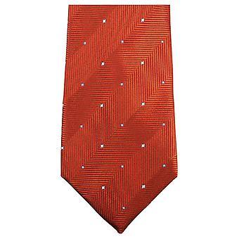 Knightsbridge Neckwear Double Pattern Tie - Burnt Orange