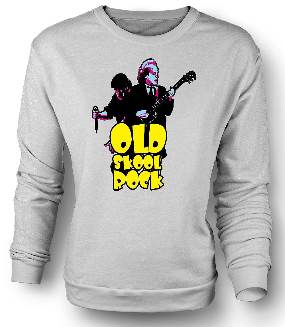 Mens Sweatshirt AC/DC - Old Skool Rock - Guitar - Rock Band - New