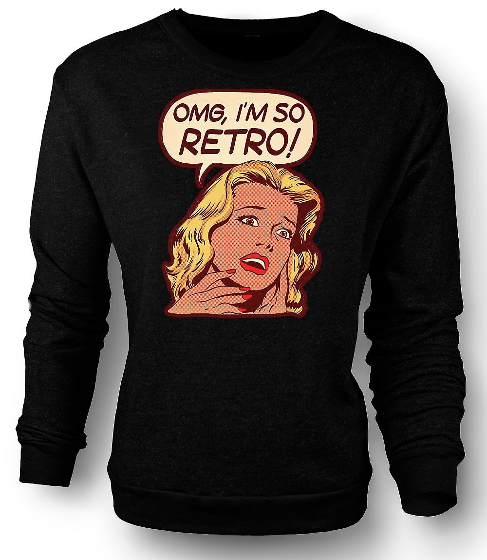 Mens Sweatshirt Im så Retro - Lichtenstein - Pop Art