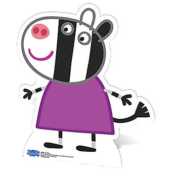 Recorte de cartón de tamaño natural de Zoe Zebra / pie - Peppa Pig