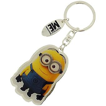 Despicable Me Unisex Silvertone Double Sided Minion Keyring