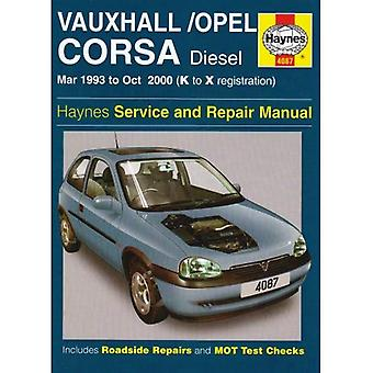Vauxhall/Opel Corsa Diesel Service and Repair Manual: March 1993-October 2000 (Haynes Service and Repair Manuals)