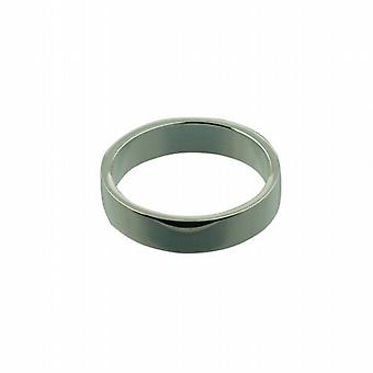 Silver 5mm plain flat Wedding Ring Size Q