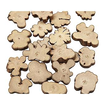 Rustic Natural Wood Log Pieces with Bark for Floristry & Crafts - 15mm to 40mm