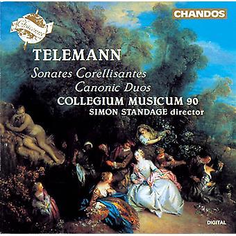 G.P. Telemann - Telemann: Sonates Corellisantes; Kanoniek Duos [CD] USA importeren
