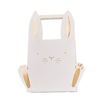 Easter Bunny Shaped Treat Bags x 5 with Gold Glitter