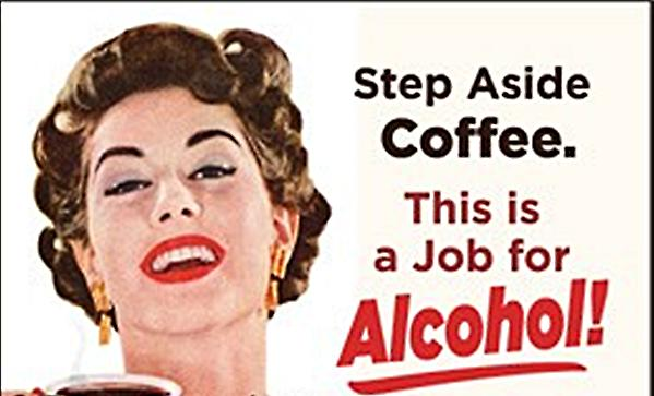 Step aside coffee.  This is a job for Alcohol!  funny fridge magnet (ep)