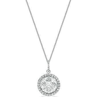 Bella Cubic Zirconia Set Celtic Pendant - Silver
