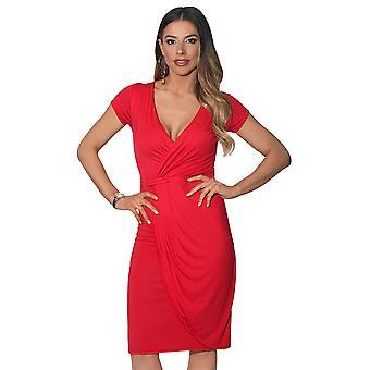 KRISP Cap Sleeve Wrap Jersey-Kleid