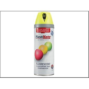 Plasti-Kote Twist & Spray Fluorescent Yellow 400ml