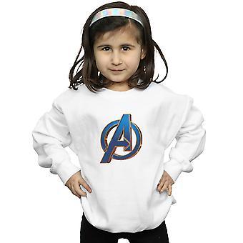Marvel ragazze Avengers Endgame eroico Logo Felpa