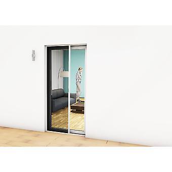Vliegen Hordeur Kit insecten bescherming geplooid deur 125 x 220 cm antraciet
