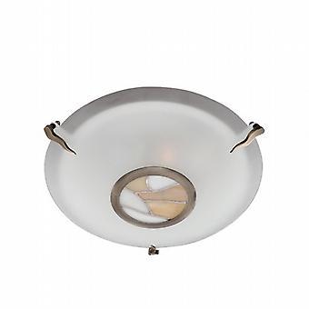 Searchlight Tiffany Inset 36095AM 2 Flush
