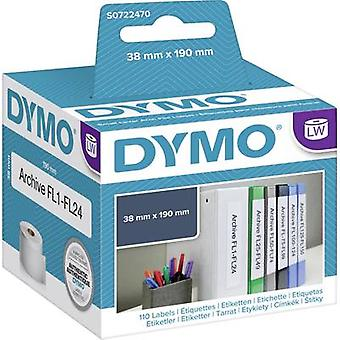 DYMO S0722470 Label roll 38 x 190 mm Paper White 110 pc(s) Permanent Lever arch file labels