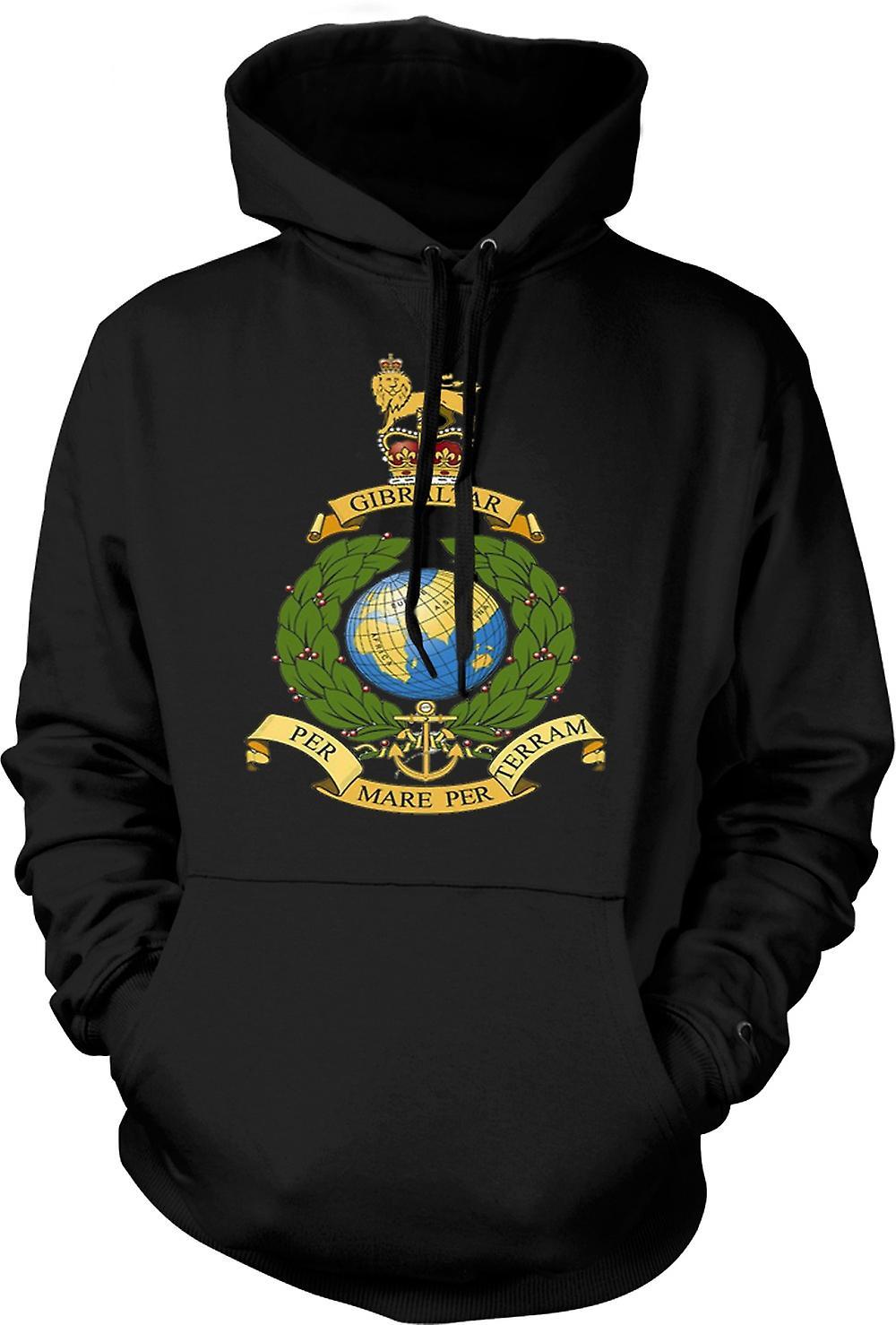 Mens Hoodie - Royal Marine Logo - Per Mare Per Terram