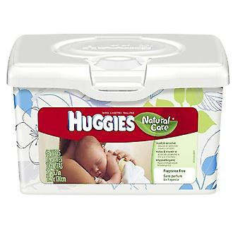 Huggies natural care baby wipes, unscented, 64 ea