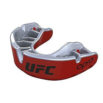 Opro Junior UFC Gold Mouth Guard Red Metal/Silver