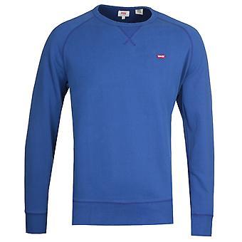 Levi's Original Icon Crew Neck Marine Blue Sweatshirt