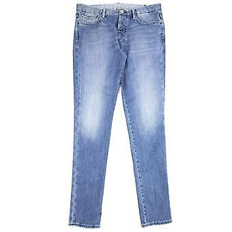 Emporio Armani J11 Extra Slim Fit Worn Jeans Denim Blue 942